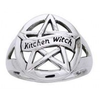 Kitchen Witch Pentacle Sterling Silver Ring Jewelry Gem Shop  Sterling Silver Jewerly | Gemstone Jewelry | Unique Jewelry