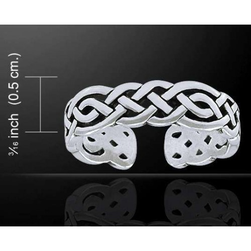 Celtic Knotwork Silver Toe Ring at Jewelry Gem Shop,  Sterling Silver Jewerly   Gemstone Jewelry   Unique Jewelry