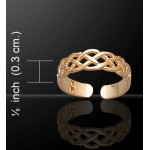 Celtic Knotwork Gold Vermeil Toe Ring at Jewelry Gem Shop,  Sterling Silver Jewerly | Gemstone Jewelry | Unique Jewelry