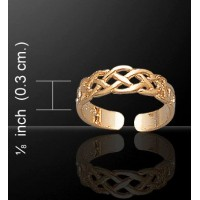 Celtic Knotwork Gold Vermeil Toe Ring Jewelry Gem Shop  Sterling Silver Jewerly | Gemstone Jewelry | Unique Jewelry