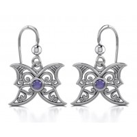 Amethyst Blue Moon Silver Earrings