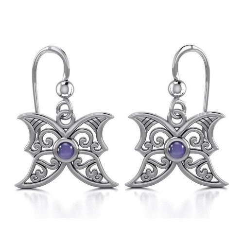 Amethyst Blue Moon Silver Earrings at Jewelry Gem Shop,  Sterling Silver Jewerly | Gemstone Jewelry | Unique Jewelry