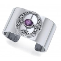 Chalice Well Amethyst Cuff Bracelet Jewelry Gem Shop  Sterling Silver Jewerly | Gemstone Jewelry | Unique Jewelry
