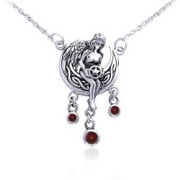 Angels Gift Of Magick Garnet Necklace