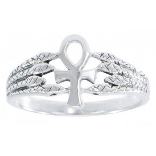 Egyptian Ankh Snake Silver Ring at Jewelry Gem Shop,  Sterling Silver Jewerly   Gemstone Jewelry   Unique Jewelry