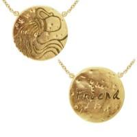 Aquarius Astrology Vermeil Necklace
