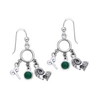 Aries Astrology Earrings with Gems