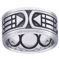 Atlantis Sacred Geometry Band Ring