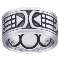 Atlantis Sacred Geometry Band Ring Jewelry Gem Shop  Sterling Silver Jewerly | Gemstone Jewelry | Unique Jewelry