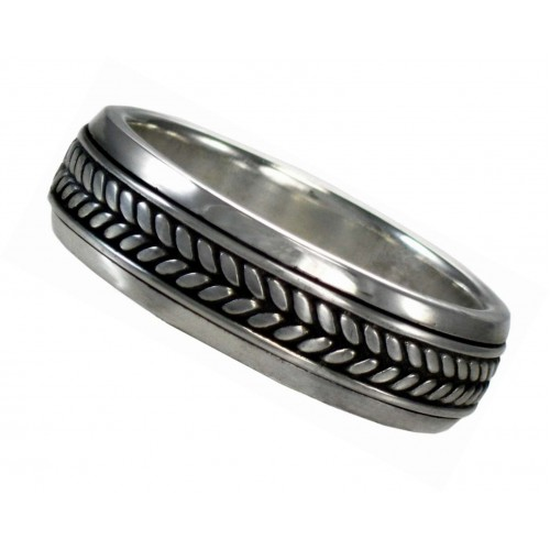Braided Sterling Silver Fidget Spinner Ring at Jewelry Gem Shop,  Sterling Silver Jewerly | Gemstone Jewelry | Unique Jewelry
