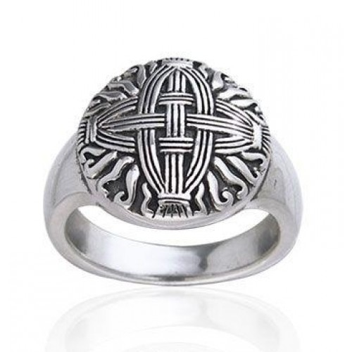 Celtic Cross of St Brigid Silver Ring at Jewelry Gem Shop,  Sterling Silver Jewerly | Gemstone Jewelry | Unique Jewelry