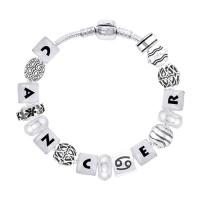 Cancer Astrology Bead Bracelet