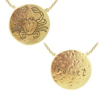 Cancer Astrology Vermeil Necklace