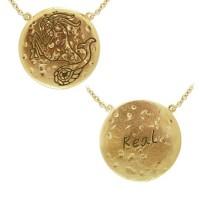 Capricorn Astrology Vermeil Necklace