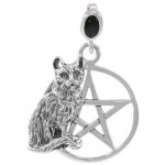 Cat Familiar Pentacle Laurie Cabot Pendant at Jewelry Gem Shop,  Sterling Silver Jewerly | Gemstone Jewelry | Unique Jewelry