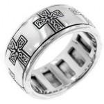 Celtic Cross Sterling Silver Fidget Spinner Ring at Jewelry Gem Shop,  Sterling Silver Jewerly | Gemstone Jewelry | Unique Jewelry