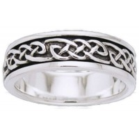 Celtic Knot Sterling Silver Fidget  Spinner Ring
