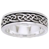 Celtic Knot Sterling Silver Fidget  Spinner Ring
