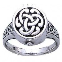 Celtic Knot Silver Poison Ring