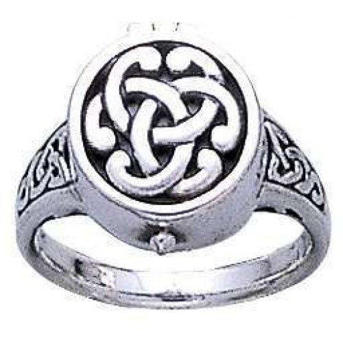 Celtic Knot Silver Poison Ring at Jewelry Gem Shop,  Sterling Silver Jewerly | Gemstone Jewelry | Unique Jewelry