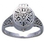 Celtic Knotwork Silver Poison Ring at Jewelry Gem Shop,  Sterling Silver Jewerly | Gemstone Jewelry | Unique Jewelry
