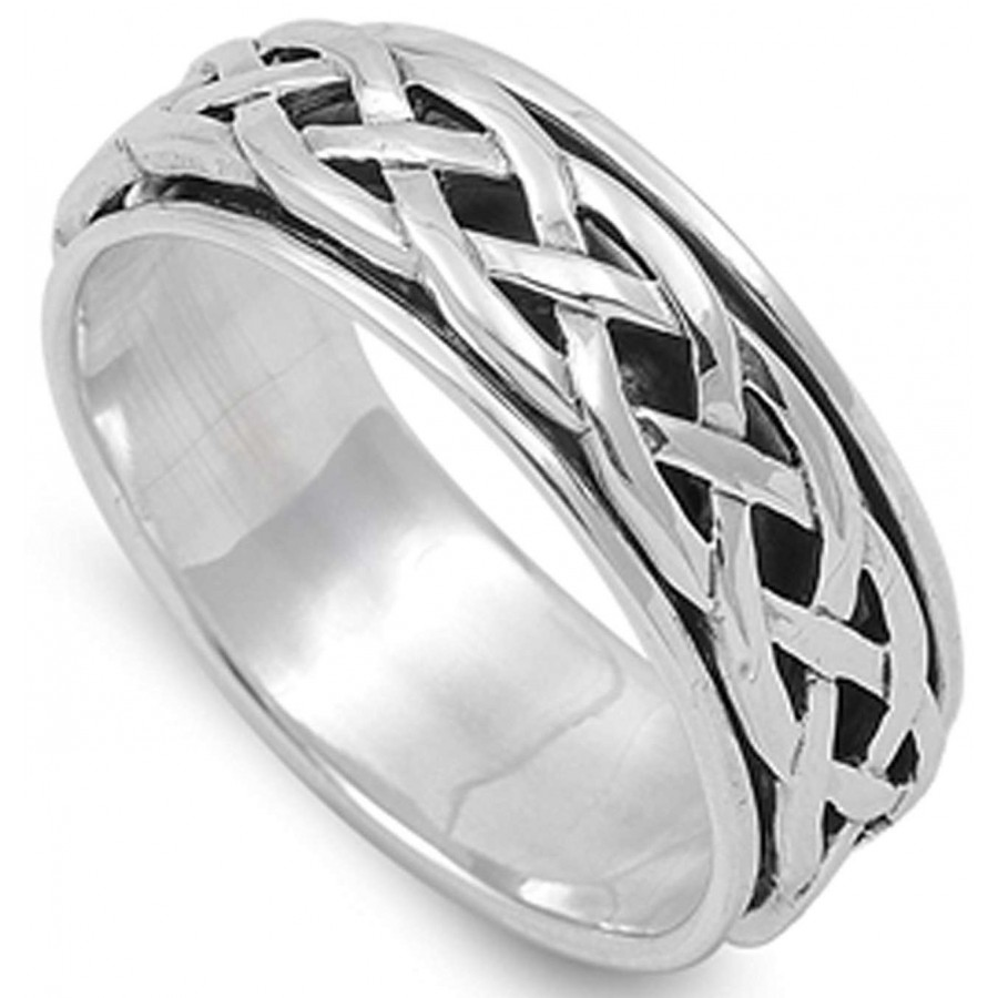 Celtic Knot Sterling Silver Fidget Spinner Ring At Jewelry Gem Shop Jewerly