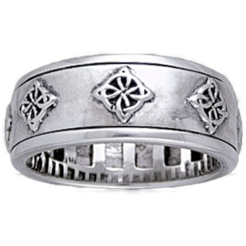 Celtic Quaternary Sterling Silver Fidget Spinner Ring at Jewelry Gem Shop,  Sterling Silver Jewerly | Gemstone Jewelry | Unique Jewelry