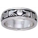 Claddagh Celtic Sterling Silver Fidget Spinner Ring at Jewelry Gem Shop,  Sterling Silver Jewerly | Gemstone Jewelry | Unique Jewelry