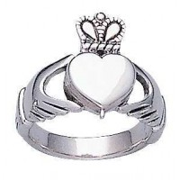 Celtic Claddagh Silver Poison Ring