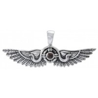 Egyptian Winged Sun Disk Pendant with Gemstone Jewelry Gem Shop  Sterling Silver Jewerly | Gemstone Jewelry | Unique Jewelry