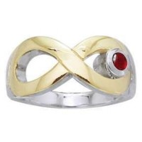 Eternity Silver and Gold Ring
