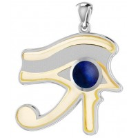 Lapis Eye of Horus Gold Accented Pendant Jewelry Gem Shop  Sterling Silver Jewerly | Gemstone Jewelry | Unique Jewelry