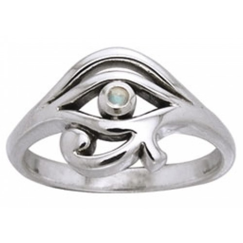 Eye of Horus Egyptian Ring with Gemstone at Jewelry Gem Shop,  Sterling Silver Jewerly | Gemstone Jewelry | Unique Jewelry