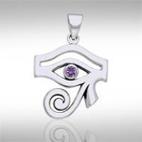 Eye of Horus Amethyst Gemstone Pendant