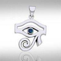 Eye of Horus Azurite Gemstone Pendant