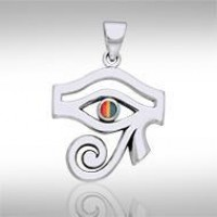 Eye of Horus Rainbow Gemstone Pendant