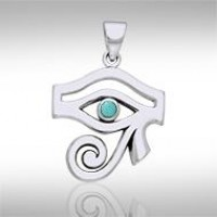 Eye of Horus Turquoise Gemstone Pendant