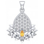 Lotus Flower of Life Gemstone Pendant at Jewelry Gem Shop,  Sterling Silver Jewerly | Gemstone Jewelry | Unique Jewelry