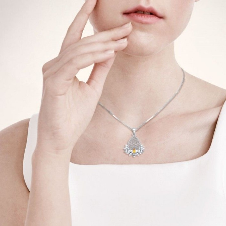 Lotus Flower Of Life Gemstone Pendant Pagan Jewelry Spiritual Charm