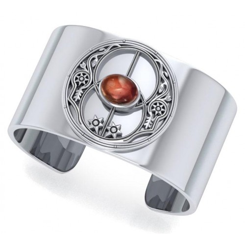 Chalice Well Garnet Cuff Bracelet at Jewelry Gem Shop,  Sterling Silver Jewerly | Gemstone Jewelry | Unique Jewelry