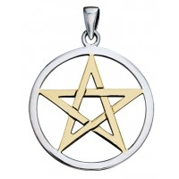 Pentagram Silver and Gold Pendant Jewelry Gem Shop  Sterling Silver Jewerly | Gemstone Jewelry | Unique Jewelry