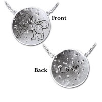 Leo Astrology Silver Necklace