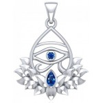 Lotus Eye of Horus Gemstone Pendant at Jewelry Gem Shop,  Sterling Silver Jewerly | Gemstone Jewelry | Unique Jewelry