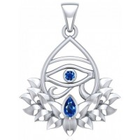 Lotus Eye of Horus Gemstone Pendant Jewelry Gem Shop  Sterling Silver Jewerly | Gemstone Jewelry | Unique Jewelry
