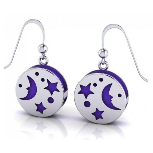 Silver Moon Aromatherapy Earrings at Jewelry Gem Shop,  Sterling Silver Jewerly | Gemstone Jewelry | Unique Jewelry
