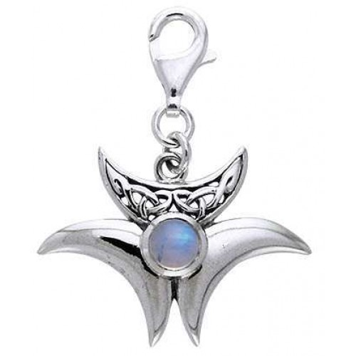 Magick Triple Moon Charm with Moonstone at Jewelry Gem Shop,  Sterling Silver Jewerly | Gemstone Jewelry | Unique Jewelry