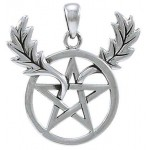 Oak Leaf Branches Pentacle Sterling Silver Pendant at Jewelry Gem Shop,  Sterling Silver Jewerly | Gemstone Jewelry | Unique Jewelry