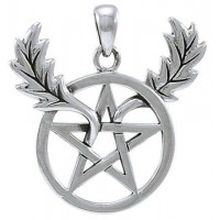 Oak Leaf Branches Pentacle Sterling Silver Pendant Jewelry Gem Shop  Sterling Silver Jewerly | Gemstone Jewelry | Unique Jewelry