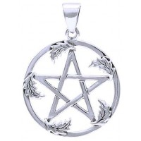 Oak Leaf Pentacle Sterling Silver Pendant Jewelry Gem Shop  Sterling Silver Jewerly | Gemstone Jewelry | Unique Jewelry