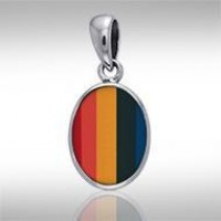 Oval Rainbow Cabochon Pendant